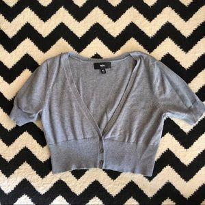 Gray Cropped Cardigan